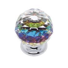 Polished Chrome 40 mm Round Prism Knob