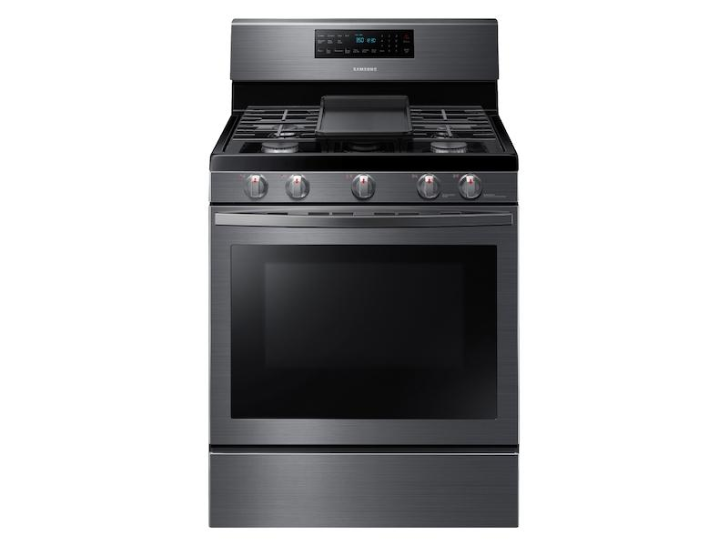 Samsung5.8 Cu. Ft. Freestanding Gas Range With Convection In Black Stainless Steel