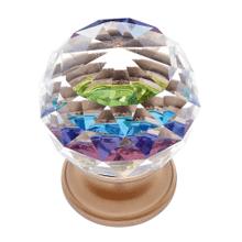 Satin Brass 30 mm Round Prism Knob