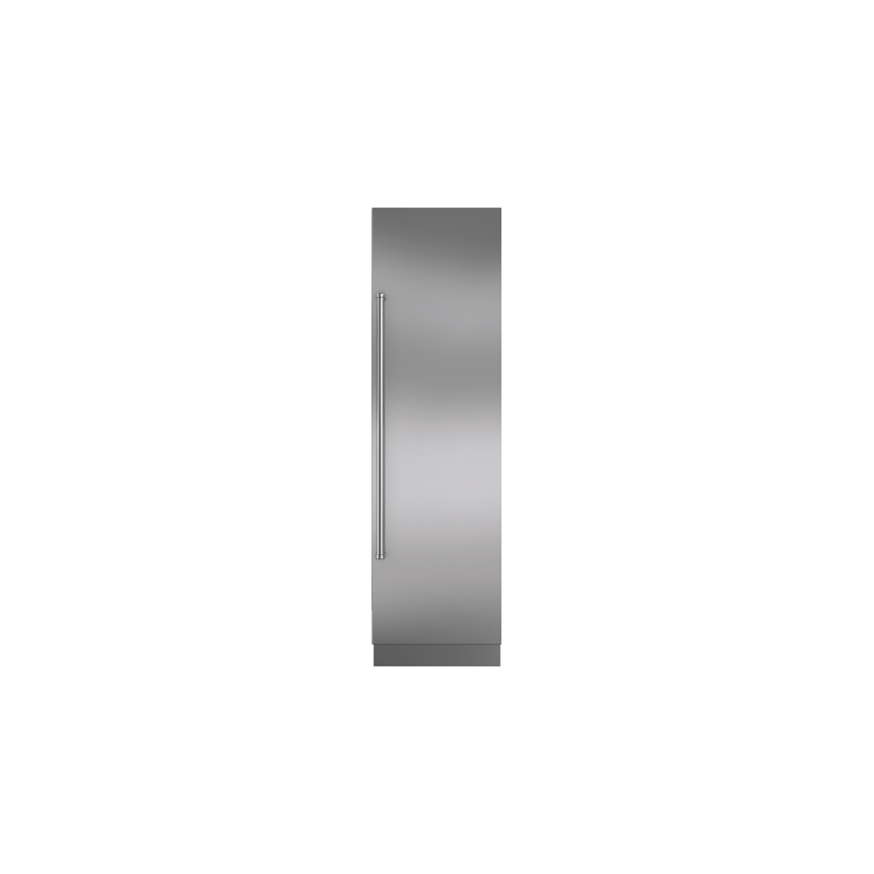 """Integrated Stainless Steel 24"""" Column Door Panel with Pro Handle - Right Hinge"""