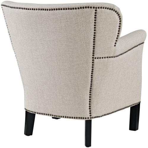 Key Upholstered Fabric Armchair in Sand