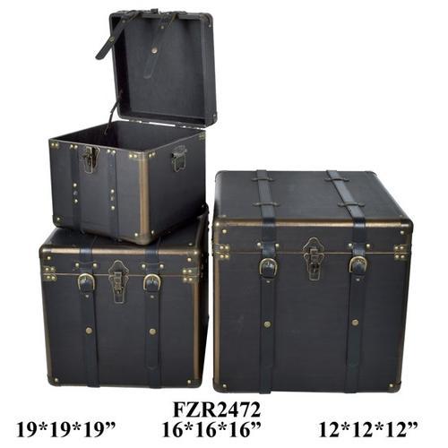 "Crestview Collections - S/3 12X12X12,16X16X16,19X19X19"" BOX, 1 SET/ 5.66'"