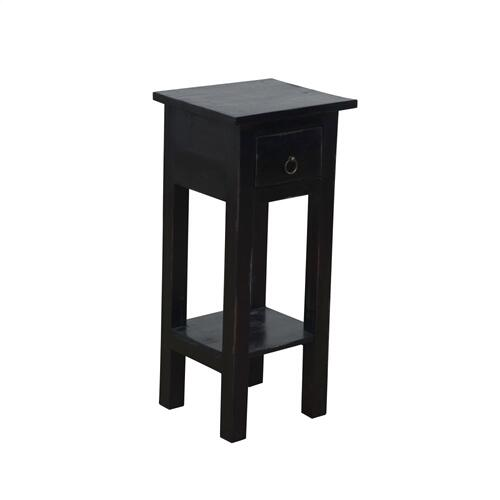 CC-TAB1792LD-AB  Narrow Side Table  Distressed  Antique Black
