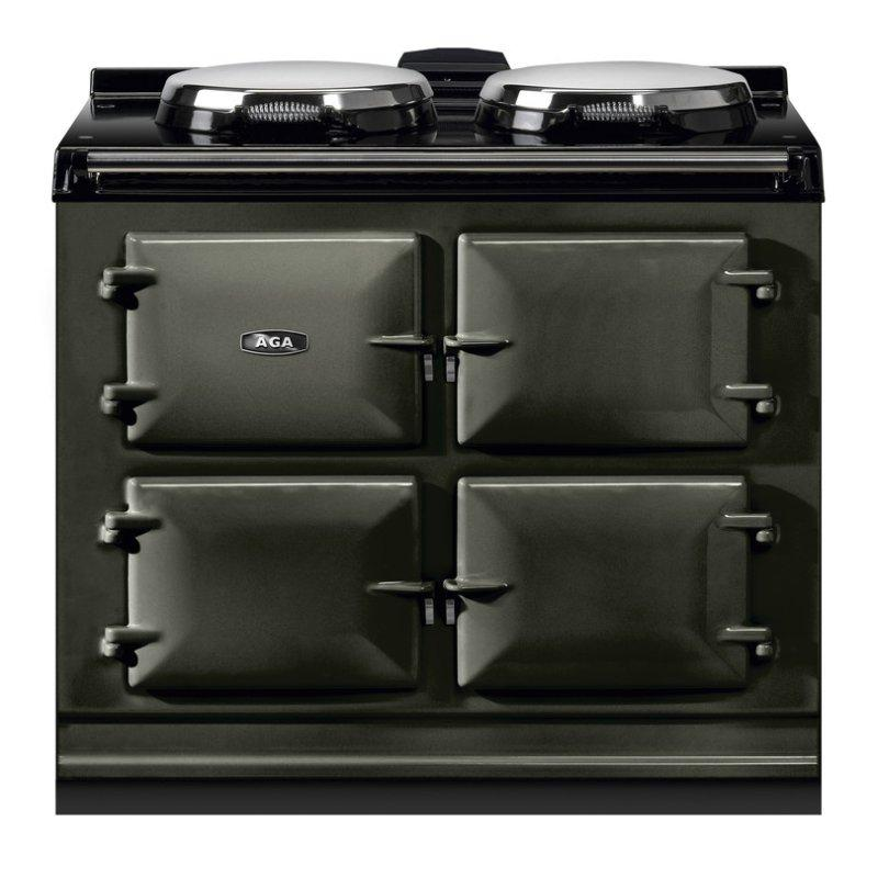 "AGA Dual Control 39"" Electric/Natural Gas Pewter with Stainless Steel trim"