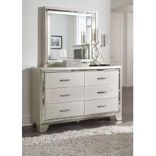 Lonnix Bedroom Mirror Silver Finish