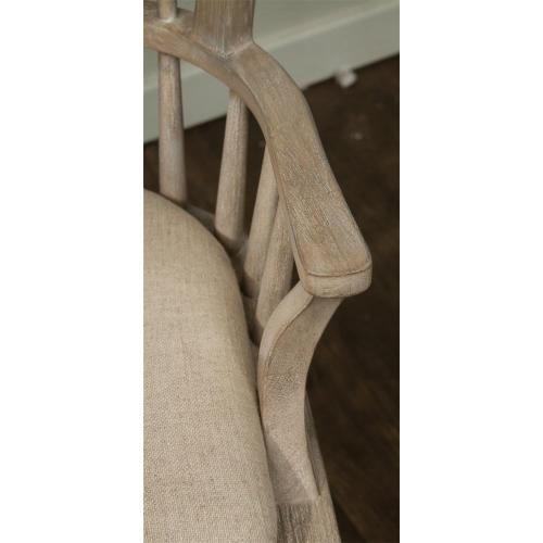 Windsor Upholstered Hostess Chair - Natural Finish
