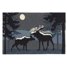 Liora Manne Frontporch Moonlit Moose Indoor/Outdoor Rug Night