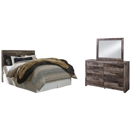 Product Image - Queen/full Panel Headboard With Mirrored Dresser