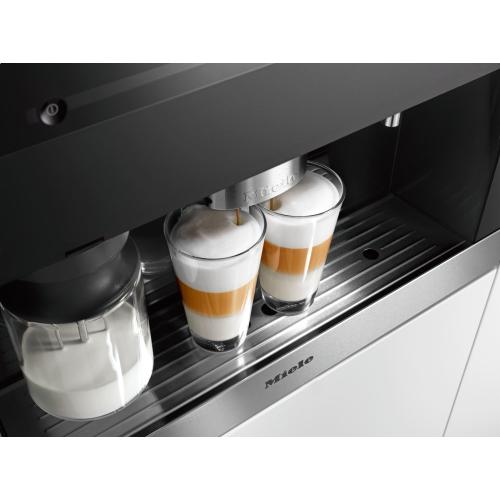 Miele CVA6401   Built-in coffee machine with bean-to cup system and OneTouch for Two prep. for perfect coffee enjoyment.