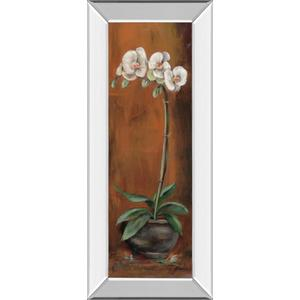 """Orchid Il"" Mirror Framed Print Wall Art"