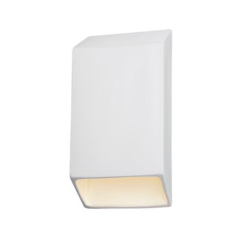 Large ADA Tapered Rectangle Outdoor LED Wall Sconce (Closed Top)