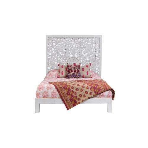 Porter International Designs - Bali White Queen Bed, SB-CBD-W