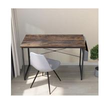 """See Details - 3825 Metal Writing Desk with Side Storage - 39"""" L"""