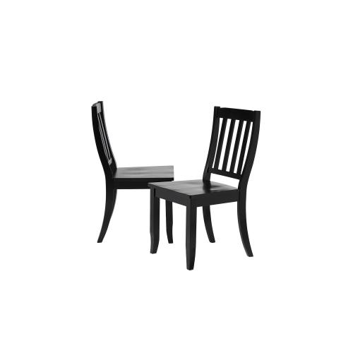 School House Dining Chair - Antique Black (Set of 2)