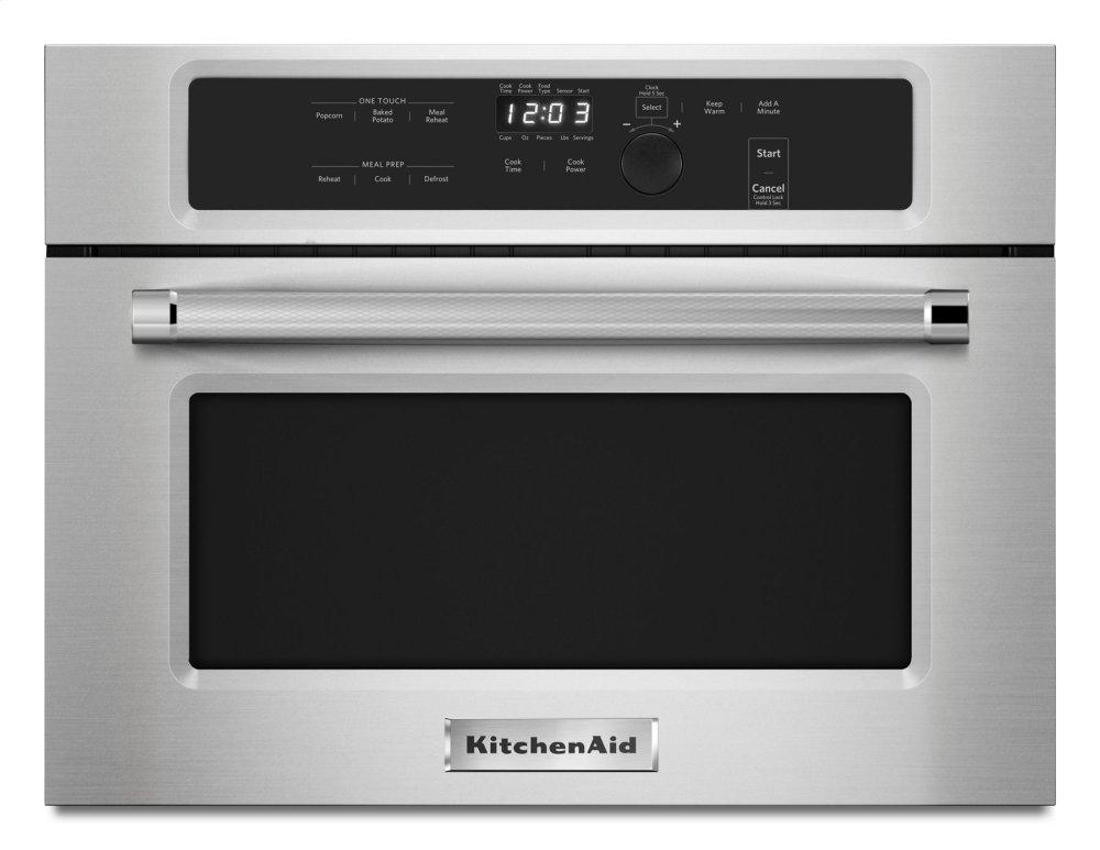 """Kitchenaid24"""" Built In Microwave Oven With 1000 Watt Cooking - Stainless Steel"""