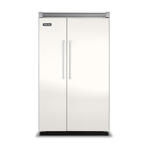 "Viking - Cotton White 48"" Side-by-Side Refrigerator/Freezer - VISB (Integrated Installation)"