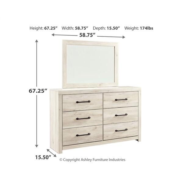 Cambeck Dresser and Mirror