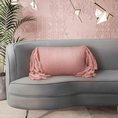 Tov Furniture - Afrino Wool Blush Pillow
