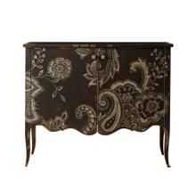 Nadia 2 Door Cabinet with Floral Art