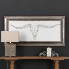 Western Skull Mount Framed Print