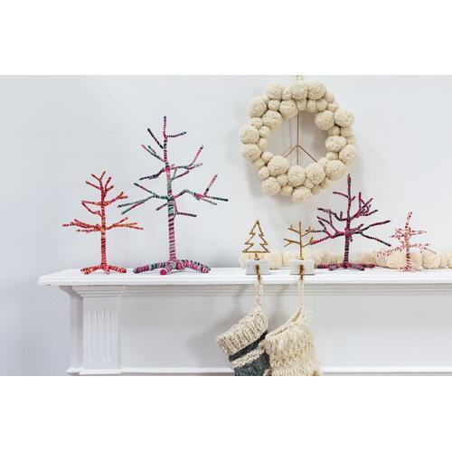 "13""x 12.5"" Multicolor Yarn Twig Trees"