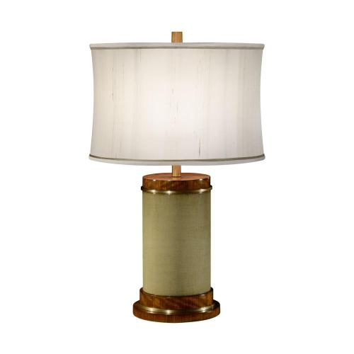 Sage finish hyedua circular table lamp
