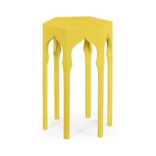 Hexagon lamp table (Yellow Rain Coat)