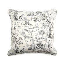 Toile Toss Pillow in Neutral