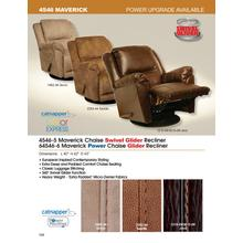 """See Details - Chaise """"Swivel Glider"""" Recliner"""