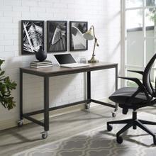 See Details - Vivify Computer Office Desk in Gray Walnut