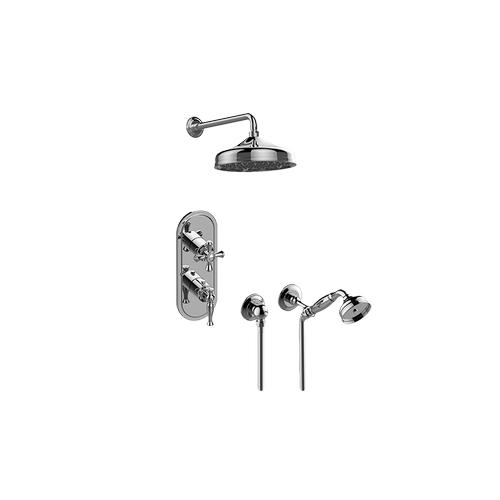 Lauren M-Series Thermostatic Shower System - Shower with Handshower