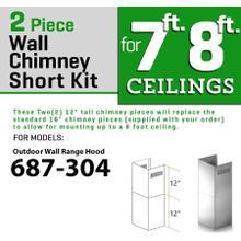 ZLINE Short Kit for 8ft. Ceilings-Outdoor Wall (SK-687-304)