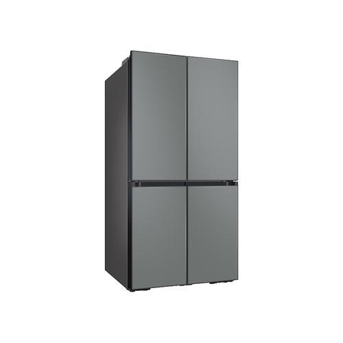 23 cu. ft. Smart Counter Depth BESPOKE 4-Door Flex™ Refrigerator with Customizable Panel Colors in Grey Glass