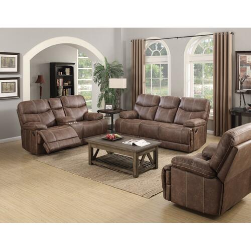 Emerald Home Earl Motion Sofa Sanded Micro Brown U7128-00-15