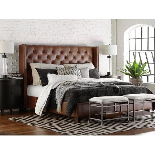 Custom Uph Beds Manhattan King Rectangular Bed, Storage 1 Drawer, Insert Type Tufted