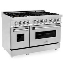 ZLINE 48 in. Professional 6.0 cu. ft. 7 Gas Burner/Electric Oven Range in Stainless Steel with Brass Burners (RA-BR-48)