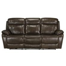 Edmond Manual Motion Reclining Sofa, Brown