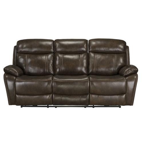 Edmond Manual Motion Reclining Sofa, Brown