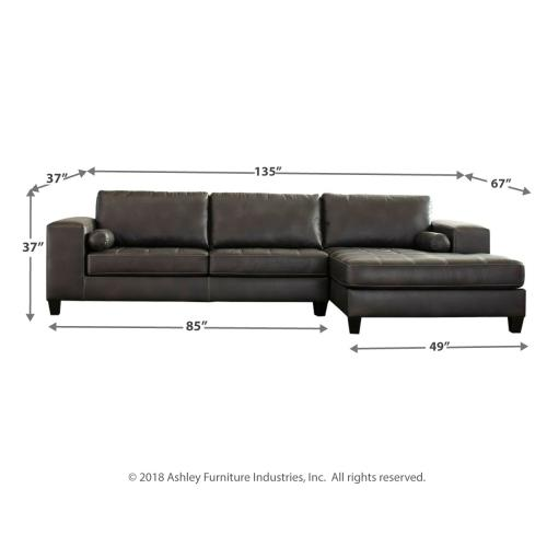 Nokomis 2-piece Sectional With Chaise