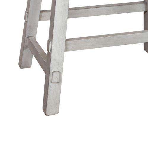 24 Inch Sawhorse Counter Stool - White