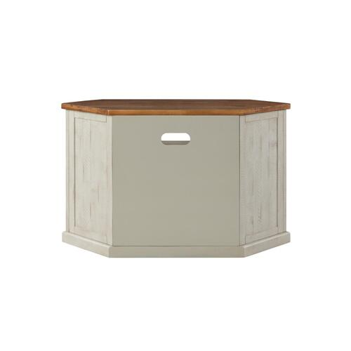 Rustic Corner-White and Honey - Antique White