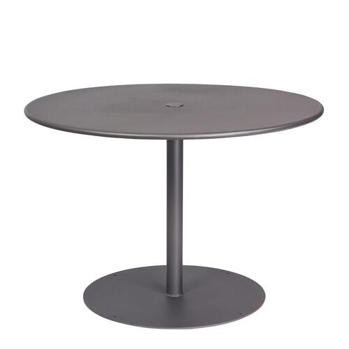 "Woodard Furniture - Solid Iron 42"" Round ADA Umbrella Table with Pedestal Base"