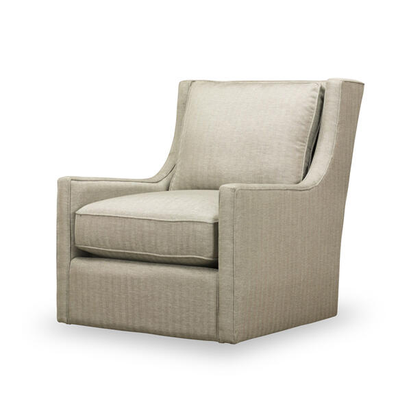 See Details - Hugo Swivel Chair in Herringbone Silver