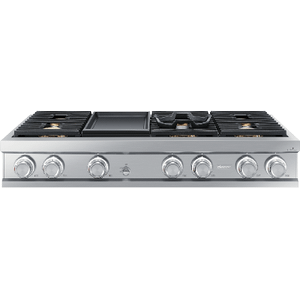 "Dacor48"" Rangetop, Silver Stainless Steel, Natural Gas"