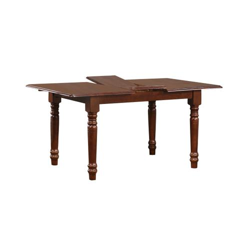 Butterfly Leaf Dining Set w/School House Chairs - Chestnut (5 Piece)