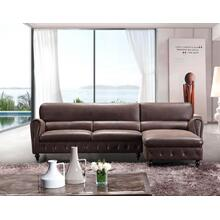 Divani Casa Gilman Modern Brown Eco-Leather Sectional Sofa
