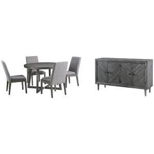 Ashley - Dining Table and 4 Chairs With Storage