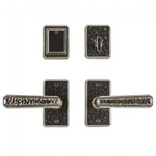 """View Product - Hammered Entry Set - 2 1/2 x 4 1/2"""" Silicon Bronze Brushed"""
