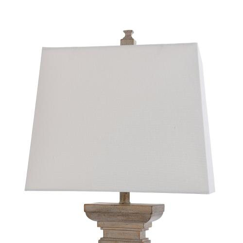 Product Image - BAFFO GOLD  16.5in w X 34in ht X 9.5in d  Square Candlestick Moulded Table Lamp  100 watts
