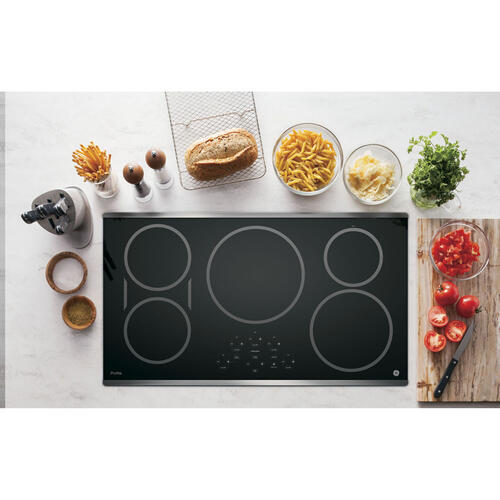 """GE Profile 36"""" Induction Cooktop Stainless Steel PHP9036SJSS"""